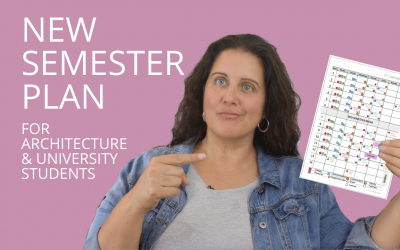How To Create A Simple New Semester Plan | For University And Architecture Students